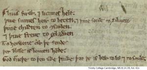 Trinity College Cambridge, MS B.14.39, fol.42v